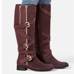 Burgundy tall boots